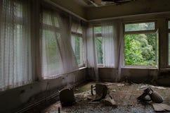Hôtel ruiné en Allemagne photographie stock libre de droits