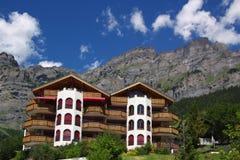 Hôtel suisse traditionnel Photos stock