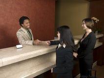 Hôtel - voyageurs d'affaires Photos stock