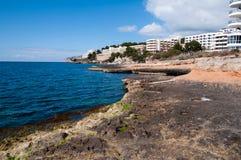 Hôtels de Santa Ponsa, Majorca, Espagne Photos libres de droits