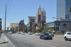 Hôtels et boutiques sur la bande de Las Vegas le 26 juin 2017 Voyage Holydays image stock
