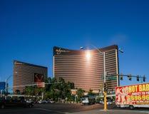 Hôtels modernes 24 heures sur 24 fonctionnants Wynn de Vegas et bis Image libre de droits