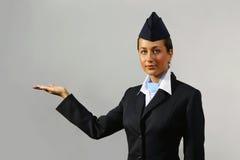 Hôtesse de l'air. Verticale Photo libre de droits