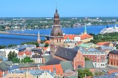 Höchst-Ansicht von Riga Stockfotografie