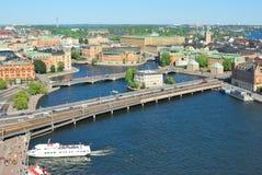 Höchst-Ansicht von Stockholm Lizenzfreie Stockfotos