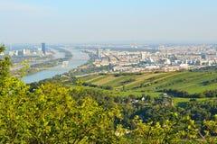 Höchst-Ansicht von Wien, Österreich Lizenzfreie Stockfotos
