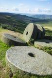 Höchstbezirksmühlsteine bei Stanage umranden, Derbyshire Lizenzfreies Stockbild