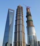 Höchstes Gebäude drei in Shanghai Stockfotos