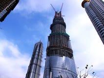 Höchstes Gebäude Shanghais im Bau Stockfotos