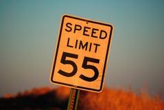 Höchstgeschwindigkeit 55 Stockbild