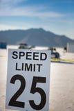 Höchstgeschwindigkeit 25 bei Bonneville Stockfotografie