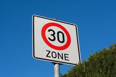 Höchstgeschwindigkeit 30 des Zeichens Lizenzfreie Stockbilder