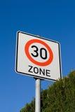 Höchstgeschwindigkeit 30 des Zeichens Stockbild