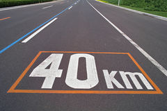 Höchstgeschwindigkeit-Zeichen Stockfoto