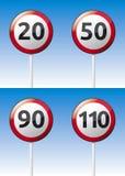 Höchstgeschwindigkeits-Verkehrsstraßenbrett Lizenzfreies Stockbild