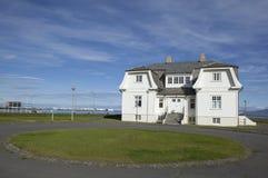 Höfði ist ein Haus in Nordreykjavãk, Lizenzfreie Stockbilder
