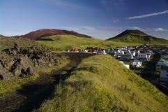 Höfn, Heimaey, Islande image stock