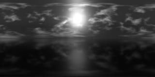 Hög översikt för upplösning HDRI: miljööversikt för equirectangular projektion, sfärisk panorama, bakgrundssvart för illustration Royaltyfri Bild