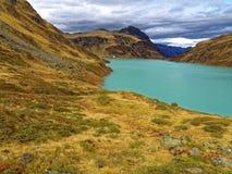 Hög alpin bergsjömiljö Arkivfoton
