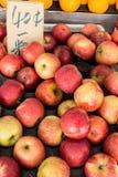 Hög av äpplefrukt Fotografering för Bildbyråer