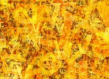Hög av abstrakta kaotiska alfabetbokstäver Arkivbilder