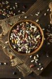 Hög av blandade blandade organiska torra bönor Royaltyfria Foton