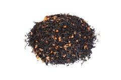 Hög av chai te med pumpa och kryddnejlikan Royaltyfria Bilder