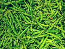 Hög av chilies Royaltyfri Bild