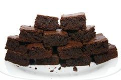 Hög av chokladnissen Arkivfoton