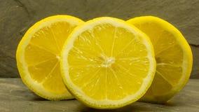 Hög av citroner Arkivfoton