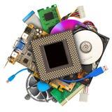 Hög av datormaskinvara Arkivfoton