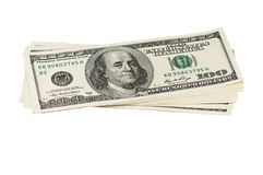 Hög av dollar Arkivbilder