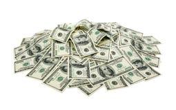 Hög av dollar Arkivfoton