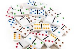 Hög av domino Fotografering för Bildbyråer