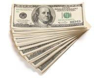 Hög av en dollar Arkivfoton