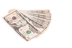 Hög av en dollar räkningar Fotografering för Bildbyråer