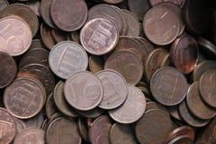 Hög av ett euro cent royaltyfri foto