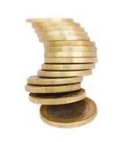 Hög av euromynt royaltyfri bild