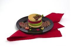 Hög av färgglade pannkakor Fotografering för Bildbyråer