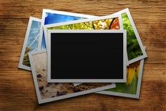 Hög av färgrika foto royaltyfria foton