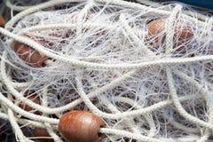 Hög av fisknät arkivfoton