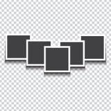 Hög av fotoramar på vit bakgrund också vektor för coreldrawillustration stock illustrationer