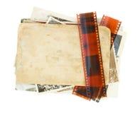 Hög av gamla foto royaltyfria bilder