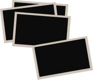Hög av gamla fotografier på vit bakgrund Fotografering för Bildbyråer