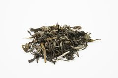 Hög av gröna teblad - Kina Jade Snow Royaltyfri Foto