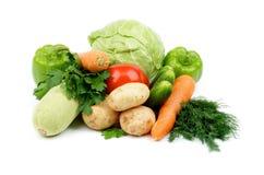 Hög av grönsaker Fotografering för Bildbyråer