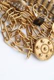 Hög av guld- smycken Royaltyfri Bild