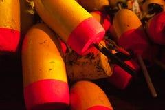 Hög av hummerboj Royaltyfri Bild