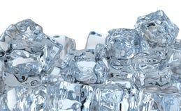Hög av iskuber stock illustrationer