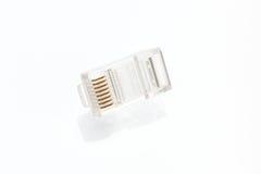 Hög av kontaktdon för Ethernet RJ45 Royaltyfri Fotografi
